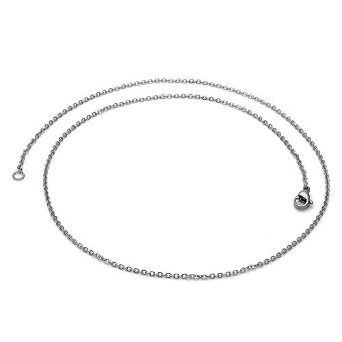 Stainless Steel  Basic Necklace, Rolo