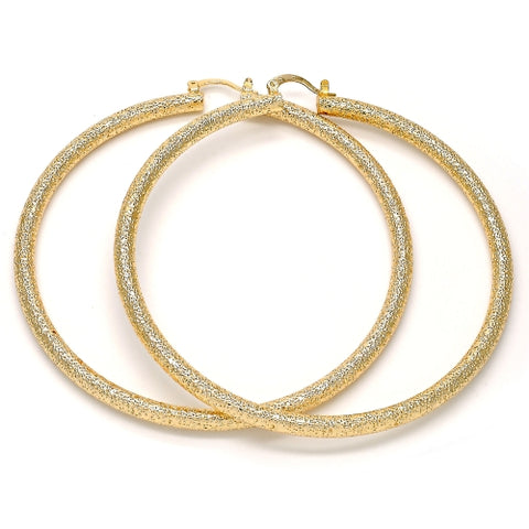 Extra Large Hoop, Matte Finish, Gold Tone