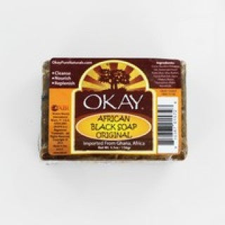 OKAY AFRICAN BLACK SOAP 156GRMS/ 5.5OZ