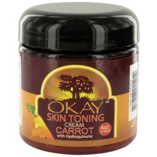 OKAY SKIN TONING CARROT CREAM 4OZ
