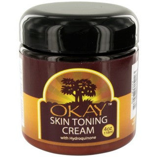 OKAY SKIN TONING CREAM 4OZ
