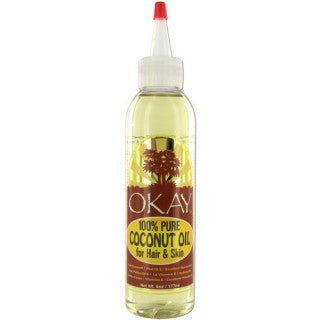OKAY 100% COCONUT OIL FOR HAIR & SKIN 6OZ / 177ML