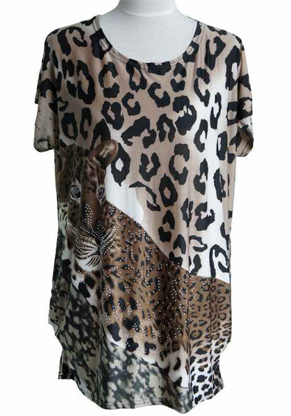 Leopard Print Tunic With Beads
