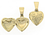 Gold Layered  Locket Pendant, Heart Design