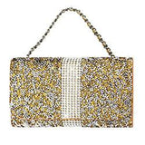 Reiko Jewelry Rhinestone Purse Wallet Case Pouch