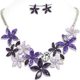 Necklace Earring Set Flower Star