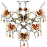 Butterfly Necklace Earring Set