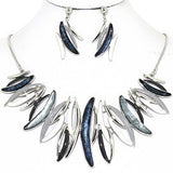 Necklace Earring Set Curve Lines