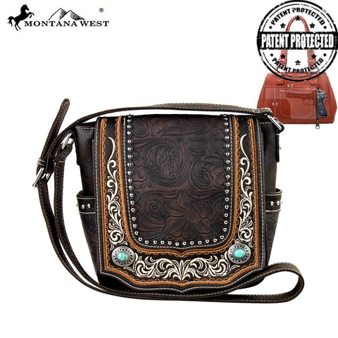 Montana West Concho Collection Concealed Handgun Messenger Bag