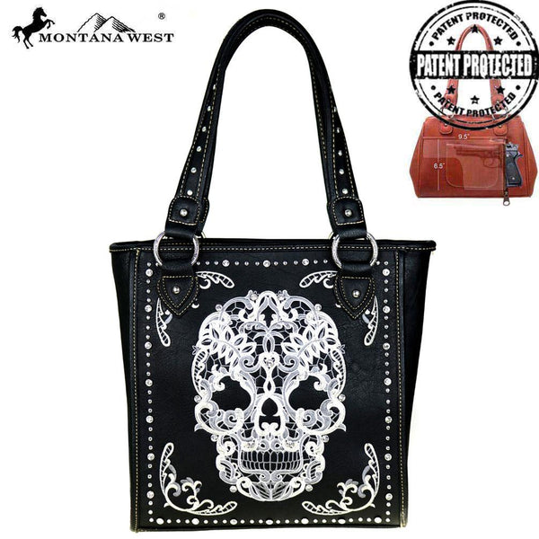 Montana West Sugar Skull Collection Concealed Handgun Tote