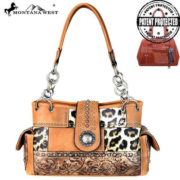 Montana West Safari/Concho Collection Concealed Carry Satchel