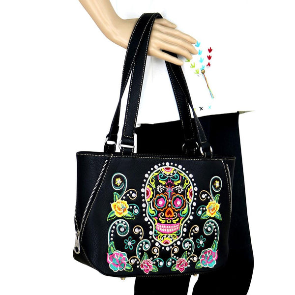 Montana West Sugar Skull Collection Tote