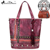 Montana West Concho Collection Concealed Carry Tote/Crossbody