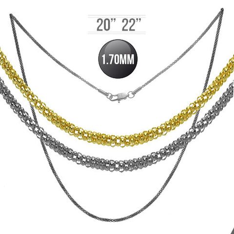 Gorgeous Mesh Chain for Pendants