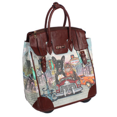 18 INCH FIONA ROLLING BUSINESS TOTE WITH LAPTOP COMPARTMENT