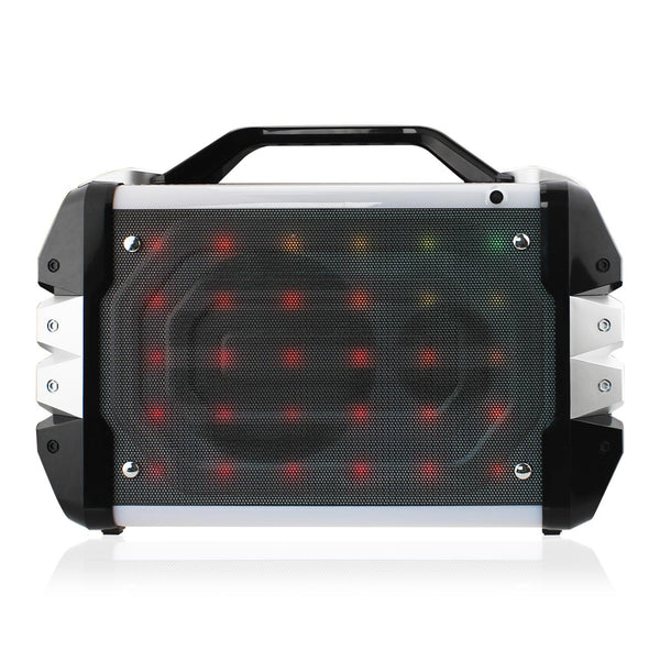 Universal Boombox Bluetooth Neon Colored Speaker In Silver
