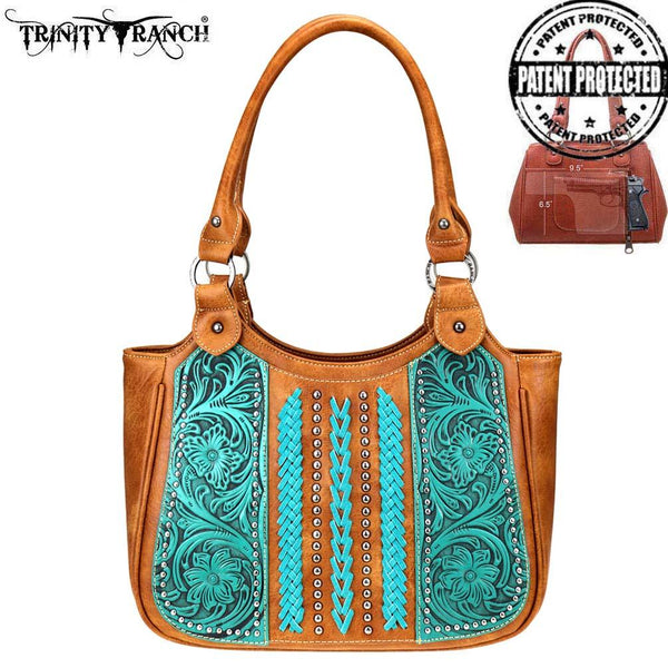 Trinity Ranch Tooled Leather Collection Concealed Carry Tote