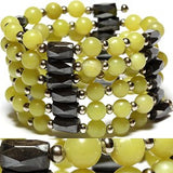 Magnetic Necklace Bracelet Wrap Bead Yellow