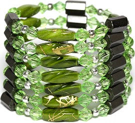 Magnetic Necklace Wrap Line Green