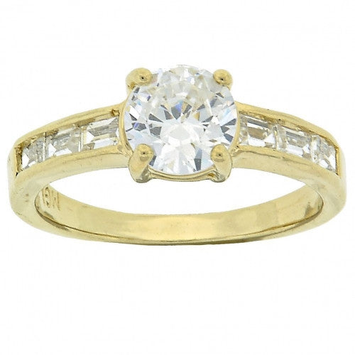 Single Gold Layered Wedding Ring