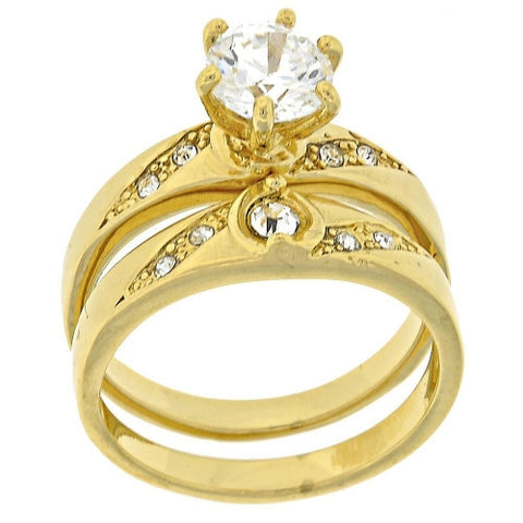 England Gold Layered Wedding Ring