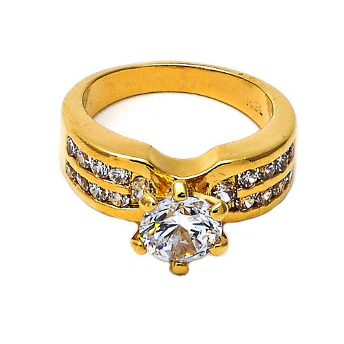 Simple Beauty Gold Layered Wedding Ring