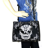 Montana West Sugar Skull Collection Concealed Handgun Tote/Crossbody