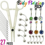 27 Pcs Body Piercing Kit