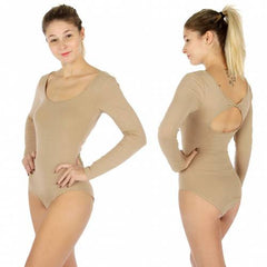 Copy of Solid long sleeve low neck bodysuit
