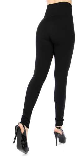 Solid fleece high waisted leggings Plus size