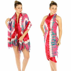 Tribal tie dyed beach wrap