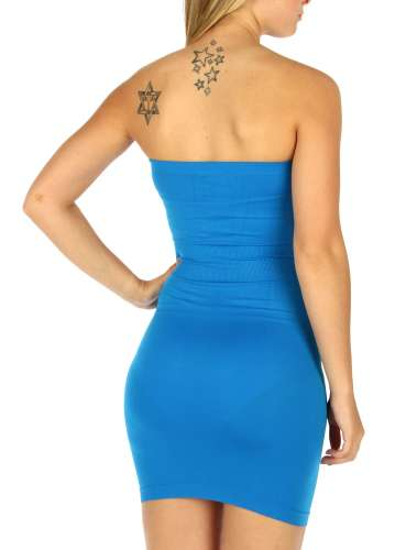 Solid strapless dress