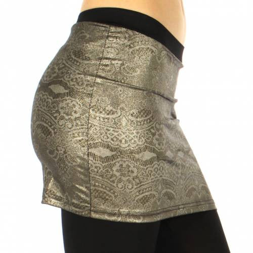 Skirt foiled leggings abstract