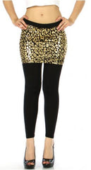 Skirt foiled leggings gold pattern