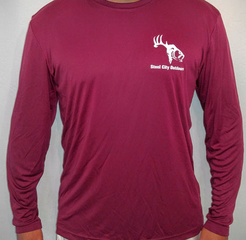 Maroon Long Sleeve Performance Shirt