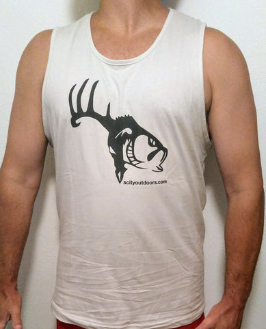 Sand and Black SCO Logo Tank Top
