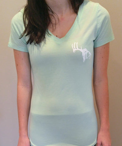 Women's Mint V-Neck SCO Logo T-Shirt