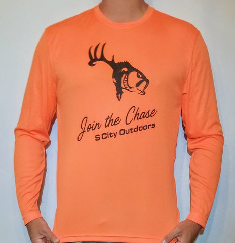 Orange Long Sleeve Performance Shirt