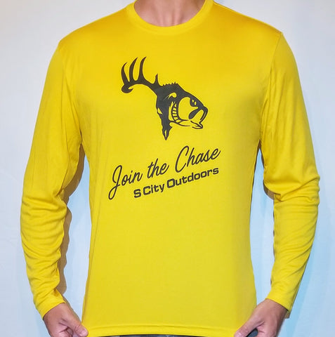 Gold Long Sleeve Performance Shirt