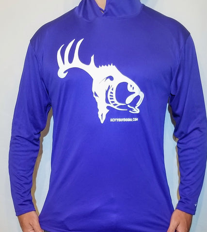 Royal Blue Long Sleeve Performance Hoodie