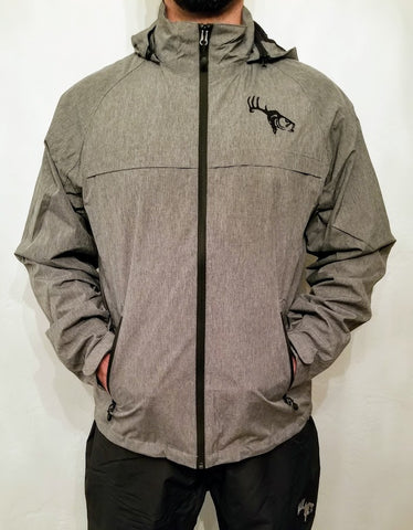 Men's Heather Gray Waterproof Rain Jacket