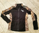 Women's Black/Camo Full Zip Fleece