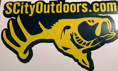"S CITY OUTDOORS ""Pittsburgh Black N Yellow Yinzer Sticker"" Decal (4""x 4"")"