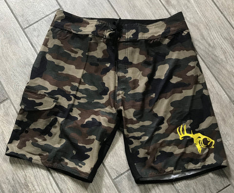 Hybrid Performance Fishing Shorts (Green Camo)