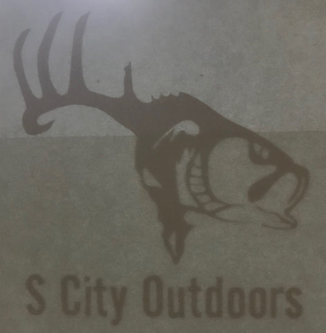 "S City Outdoors Sticker 3""x 3"""