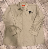 Tan SCO Long Sleeve Button Down Outdoors Work Shirt