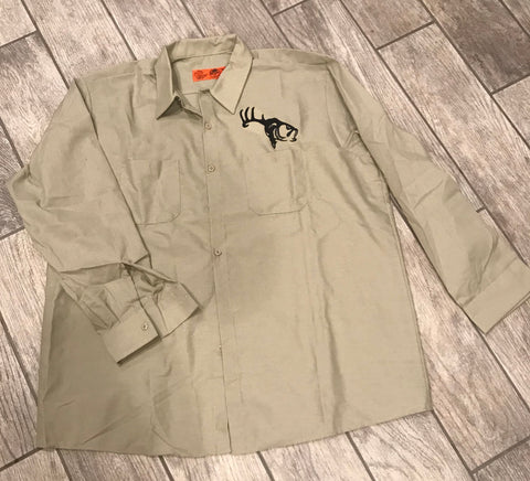 Long Sleeve Button Down Outdoors Work Shirt