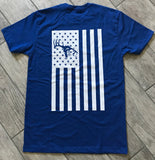 Blue Join the Chase Americana Logo T-Shirt
