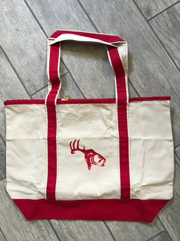 Red Logo Tote