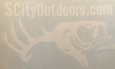 "S CITY OUTDOORS ""White Out"" Decal (4""x 4"")"